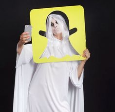The Snapchat Ghost Costume Was Dreamed Up by Erica Domesek #lifestyle trendhunter.com