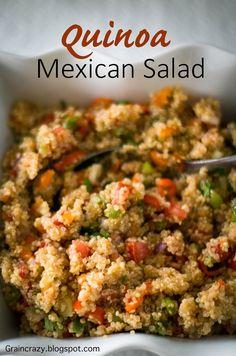 Grain Crazy: Quinoa Mexican Salad Easy salad for Summer  #Candida Diet Recipe #Quinoa #Summer Salads