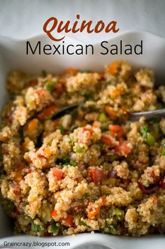 Grain Crazy: Quinoa Mexican Salad Easy salad for Summer  #Candida Diet Recipe #Quinoa #Summer Salads