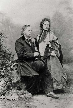 Henry Ward Beecher and Harriet Beecher Stowe by Matthew Brady ~ (I learned only just recently that they were brother and sister, rather than husband and wife.)