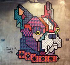 Rukkit Kuanhawate, street art y diseño gráfico en Tailandia | Singular Graphic Design