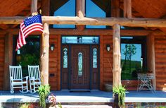 Hackel Construction Inc. acted as general manager in the construction of this log home and framed, finished, and built the pool side deck.
