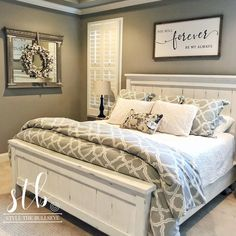 ✔ 45 favourite farmhouse master bedroom design ideas match for any room 1 Master Bedroom Bathroom, Farmhouse Master Bedroom, Master Bedroom Makeover, Home Bedroom, Modern Bedroom, Master Bedroom Furniture Ideas, Couple Bedroom Decor, White Rustic Bedroom, Bedroom Ideas Master On A Budget