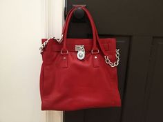 Michael Kors Handbag, Hamilton Tote Bag, Shoulder Bag, Red- New Without Tags i like michael kors purse very much
