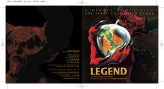 Legend OST CD booklet cover spread. Client: Silva Screen Records. Circa 2002. © Sean Mowle.