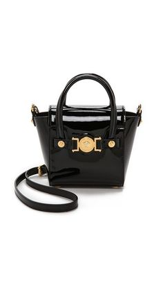 Versace Patent Leather Cross Body Bag Black Gold Versace Duffle Bag,  Versace Bag, Versace 7ed994a179