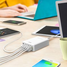It's not uncommon for a family to have 6 to 10 devices anymore: phones, tablets, laptops. Not just smartphones and tablets, charge headphones, speakers, music players, external battery chargers and plenty of others. Some are personal devices and some are shared between the family. But all need to get charged. The charging stations I found…