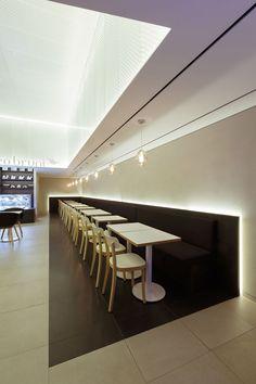 Artwork For Home Decoration Corporate Interior Design, Corporate Interiors, Restaurant Interior Design, Commercial Interior Design, Retail Design, Paleterias Ideas, Artwork For Home, Cafe Design, Store Design