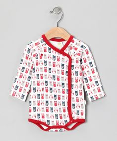 Take a look at this Red Owl Organic Wrap Bodysuit - Infant on zulily today!