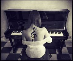 Treble clef tattoo on pianist playing piano Future Tattoos, Love Tattoos, Beautiful Tattoos, Body Art Tattoos, Tatoos, Music Tattoos, Ink Tattoos, Amazing Tattoos, Treble Clef Tattoo