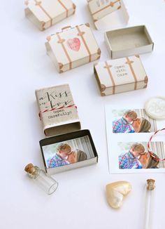 DIY Kiss-in-a-box project; great for kids!