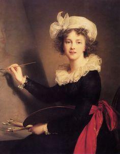 0ee20bc67af90 Elisabeth Vigee Le Brun. Self-portrait in 1790 Autorretratos