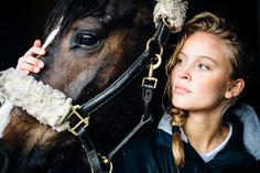 Swedish singer Zara Larsson on assignment for the magazine Häst&Ryttare