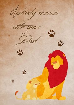 The Lion King inspired Father's Day design.