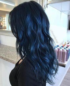 Blau Schwarz Frisur Ideen Mitternachtsblau Schwarzes Haar Und Haar Damen Haare Frisur Ideen Dunkelblaue Haare Haarfarben