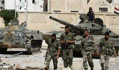 """الجيش السوري يعلن التصدي بـ""""كفاءة عالية"""" لصواريخ العدوان الثلاثي: أكدت القيادة العامة للجيش والقوات المسلحة السورية أن الدفاعات الجوية تصدت…"""