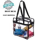 Clear Handbags & More Tote Bag with Adjustable Shoulder Strap and Handles - Clear/Black for sale online Clear Handbags, Women's Handbags, Nfl Stadiums, Clear Tote Bags, Backpack Purse, Shoulder Handbags, Sale Items, Shoulder Strap, Backpacks