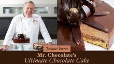 Learn how to make a show-stopping and decadent chocolate cake in just one hour, and do it all with help from legendary chocolatier Jacques Torres! Chef Torres shares his secrets (and exclusive recipes) in this special Craftsy class. Chocolate Filling For Cake, Chocolate Glaze Recipes, Ultimate Chocolate Cake, Homemade Chocolate, Chocolate Cakes, Chocolates, Baking Classes, Cake Fillings, Salty Cake