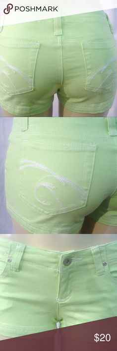 Nwot Green stretch soft denim but shorts New denim shorts.  Green soft denim by younique.  Cotton / spandex. Great stretch item. younique  Shorts