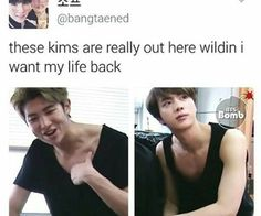 Find images and videos about kpop, bts and bangtan boys on We Heart It - the app to get lost in what you love. Namjin, Bts Jin, Bts Bangtan Boy, Rapmon, Bts Bomb, Bts Facts, Bts Memes Hilarious, Bts Tweet, Kpop