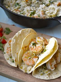 20 minute ONE skillet Cilantro Lime Shrimp and Rice