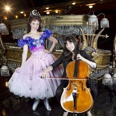 Sierra (left) and Summer Boggess, onstage at the Majestic Theatre, have been making beautiful music together for years.