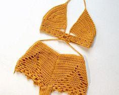 Eccentric Crochet Designs by Wild Dandi by WildxDandi Shorts Crochet, Crochet Yarn, Crochet Clothes, Crochet Toys, Diy Clothes, Crochet Bikini, Crochet Designs, Crochet Patterns, Crochet Fashion