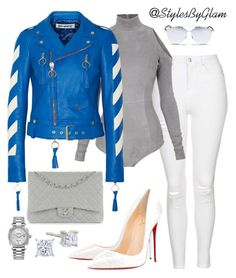 """""""SLAYER"""" by stylesbyglam on Polyvore featuring Topshop, Balmain, Off-White, Christian Louboutin, Chanel, Christian Dior and Rolex"""