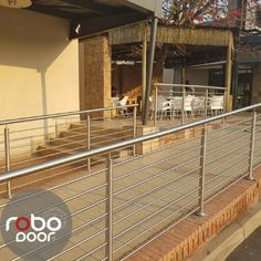 Stainless Steel Balustrades   We offer a variety of stainless steel balustrades, from horizontal to vertical types of balustrades.   We customize our style to your needs from the size of the posts, handrails and intermediates.