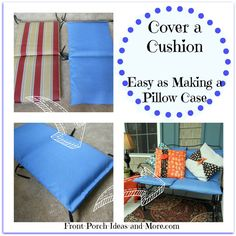 Super Easy Method To Cover Outdoor Cushions