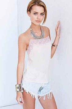 Pins And Needles Silk Mesh Cami - Urban Outfitters