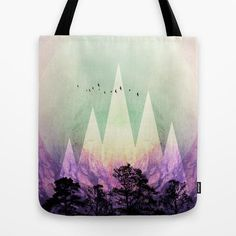 TREES under MAGIC MOUNTAINS VII Tote Bag by Pia Schneider [atelier COLOUR-VISION] #trees #artwork #mountains #landscape #curated #geometric #textures #fantasy #nature #purple #purpur #violet #black #turquoise #positive #colorful #modern #elegant #s6 #piaschneider #ateliercolourvision #bag #totebag #accessoires #fashion #shoppingbag #bags #totes #stylish #schoolaccessoires