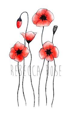 Watercolor Flowers Discover Poppy Painting Fine Art Print Flower Wall Art Red Poppies Watercolor Giclee Print Floral Home Decor Botanical Print Watercolor Poppies, Watercolor Cards, Red Poppies, Watercolor Paintings, Flower Wall, Flower Prints, Art Mural, Wall Art, Impressions Botaniques