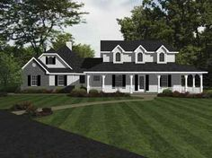Floor Plans AFLFPW17425 - 2 Story Country Home with 4 Bedrooms, 3 Bathrooms and 3,185 total Square Feet