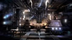 Keywords: concept spaceship interior design sci-fi concept art illustration by encho enchev at ubisoft sofia bulgaria
