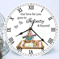 A stunning personalised photo clock, upload your photo and change the background to create the perfect unique gift or why not treat yourself Personalized Clocks, Photo Clock, Background Colour, Wow Factor, To Infinity And Beyond, Photo Quality, Wow Products, Colorful Backgrounds, Your Design