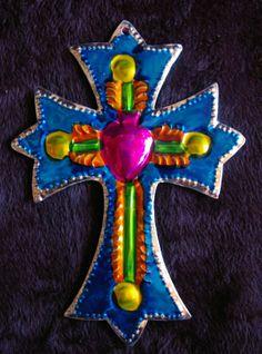 Tin Painted Cross