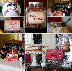 I Love this Vintage Baseball Party from @RememberThisPhtotography