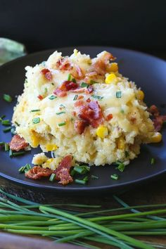 Bacon Corn Spoon Bread is one of our favorite Thanksgiving sides! Easy to make and can be made ahead of time! #sidedish #sides #thanksgivingrecipes #thanksgivingsides #spoonbread #bacon Thanksgiving Sides, Thanksgiving Recipes, Holiday Recipes, Dinner Recipes, Pasta Dishes, Food Dishes, Spoonbread Recipe, Corn Spoon Bread, 2 Quart Baking Dish