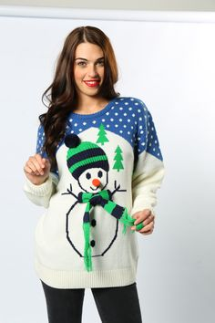 Frosty the Snowman, was a jolly happy soul. So he should be with his 3-D carrot nose, hat and scarf! The ultimate unisex jumper. #ChristmasJumper #Snowman #FrostyTheSnowman #AdultsChristmasFashion #FestiveWear #Novelty #Wholesale #Fun #TheChristmasJumperGrotto #NationalChristmasJumperDay Novelty Christmas Jumpers, Christmas Sweaters, National Christmas Jumper Day, Wave Clothing, Festive Jumpers, Frosty The Snowmen, Christmas Characters, Christmas Shopping, Christmas Parties