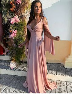 Long Party Dress And Wedding Guest for This Summer - Pink Evening Dress, Formal Evening Dresses, Pink Prom Dresses, Bridesmaid Dresses, Wedding Dresses, Ideias Fashion, Party Dress, Marina Ferrari, Jean Moda