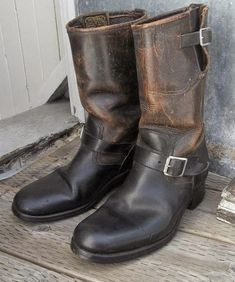 Vintage Engineer Boots: ENGINEER BOOT LEXICON PART XX Harley Boots, Biker Boots, Motorcycle Boots, Riding Boots, Leather Men, Leather Boots, Chippewa Boots, Best Looking Shoes, Engineer Boots