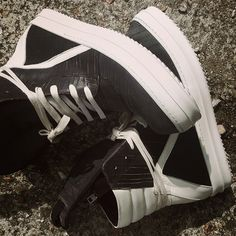 Rick Owens Geobasket Black Laser-Cut Leather High Top Trainers. #rickowens #rickowenssneakers #rickowensfootwear #rickowensgeobasket #geobasket #fashion #style #mens #menswear #mensfashion #mensstyle #sneaker #sneakerhead #sneakers #sneakerzone #sneakergeek #sneakernews #sneakerporn #sneakerpimp #luxurious #luxury #zoolife #zoofashions #newarrivals #aw15 #fw15