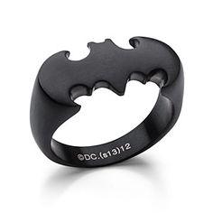 Batman Ring in Matte Black -