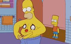 Lol haha funny pics / pictures / The Simpsons / Food / Fat / Homer / Bart / Belly / Pizza