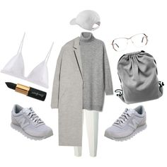 A fashion look from December 2014 featuring wool coat, stretch bra and wool pants. Browse and shop related looks.