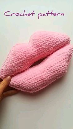 crochet pillow lips for home decor, christmas gift, car decor You are in the right place about how to crochet videos a. Crochet Motifs, Crochet Toys Patterns, Amigurumi Patterns, Crochet Pillow Patterns Free, Crochet Beanie Pattern, Crochet Gifts, Crochet Baby, Rainbow Crochet, Free Crochet