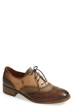 Free shipping and returns on PIKOLINOS 'Brighton' Colorblock Oxford (Women) at Nordstrom.com. Brogue detailing adds unmistakable vintage refinement to a striking color-blocked oxford cast in buttery-soft, vegetable-tanned leather.