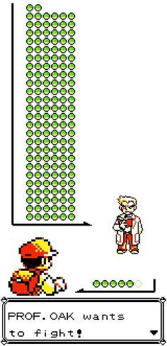 Professor Oak's 152 Pokemon vs Red's 6 Pokemon