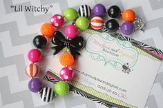 Chunky Necklace Halloween Necklace Lil by MudpiesandPigtails, $21.95